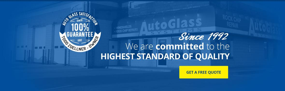 Home page banner for Auto Glass Systems in Springfield, Illinois