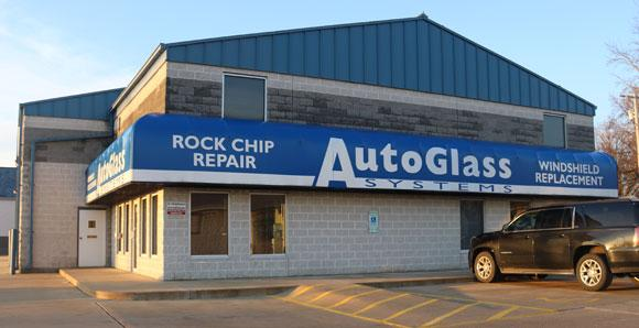 Picture of the outside of the Auto Glass building in Springfield Illinois